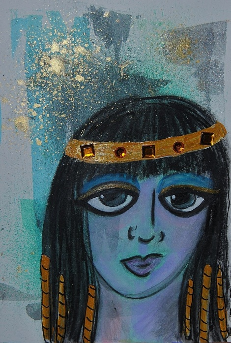 Cleopatra (water color/mixed media)