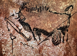 Prehistoric painting from the Lascaux caves. Image courtesy of Peter80.
