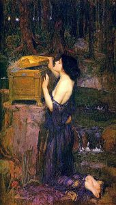 """Pandora's Box"", John William Waterhouse"