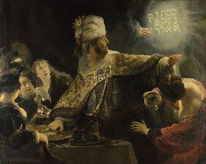 """Belshazzar's Feast"", Rembrandt Van Rijn"