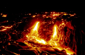 Lava flow from Mount Kilauea. Image credit: Adrian Glover