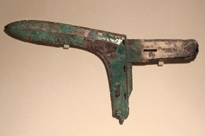 A Chinese Dagger Axe.  Eastern Zhou Dynasty - Warring States Period (475 - 221 B.C.)