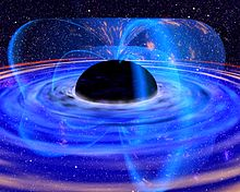 Artist's depiction of a black hole.