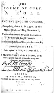 Forme of Cury Title Page