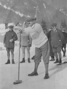 WK Jackson skipping at the first Olympic Winter Games in Chamonix in 1924.