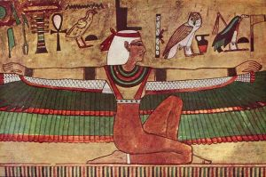 Isis, the goddess of love. This painting is in the tomb of of Seti I in the Valley of the Kings (KV17).
