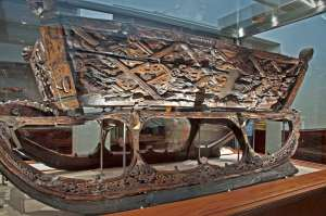 Ancient Viking sled found on the Osberg Viking ship.