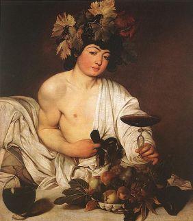 Bacchus by Caravaggio.
