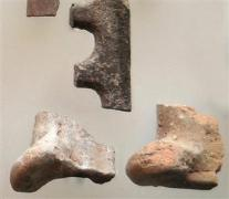 Pieces of the grills and cooking tools found at the city of Assos.
