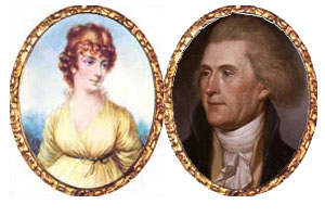 Thomas Jefferson and his wife, the real brewer in their home, Martha Jefferson.