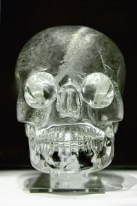 The crystal skull. Collection of the British Museum in London. Image courtesy of Rafał Chałgasiewicz