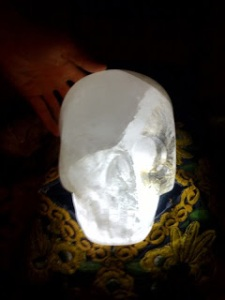 Max, one of the crystal skulls believed to be ancient and authentic.