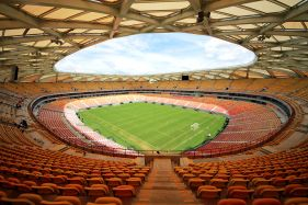 World Cup stadium Arena Amazonia in Manau,s Brazil in the middle of the Amazon rainforest. Photo courtesy of Chronus.