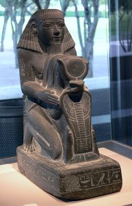 Kneeling Statue of Senenmut, Chief Steward of Queen Hatshepsut, Armant, Egypt, New Kingdom, Dynasty 18, reign of Hatshepsut, c. 1473-1458 BCE.