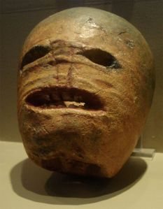 A traditional Irish turnip Jack-o'-lantern from the early 20th century. Photographed at the Museum of Country Life, Ireland. Image credit:  Rannpháirtí anaithnid at en.wikipedia