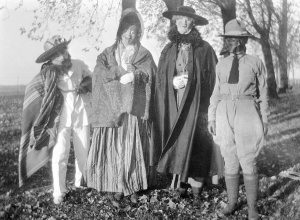 Halloween costumes, 1918, Camp Dix, New Jersey