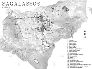 Map of the archaeological site of Sagalassos. Image credit: New England University.