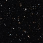 A deep view of the universe courtesy of the Hubble Telescope.