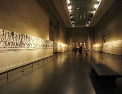 The Elgin Marbles, one of the most famous cases in the debate over repatriation, are seen here in the British Museum.