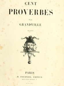 Book of French Proverbs from 1845.
