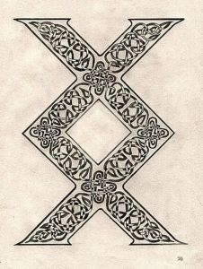 "An ancient Viking rune symbolizing fertility and new beginnings. In modern times, it is often used as a symbol for the saying ""Where there's a will, there's a way."""