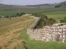 Hadrian's Wall, a symbol of Rome's power and reach.
