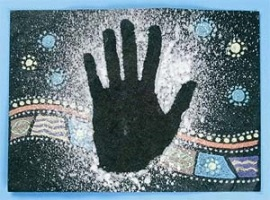 hand stencil activity