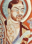 Vitarka mudrā, Tarim Basin, 9th century.