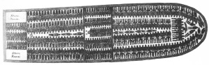 "This illustration, taken from the abolitionist pamphlet ""Description of a slave ship,"" famously shows the inhuman conditions in which slaves made the voyage across the Atlantic."