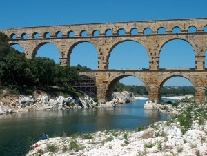 The Roman-built Pont du Gard in modern-day southern France.