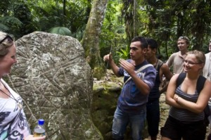 A stone slab from the ancient city of Ciudad Perdida in Colombia. (Photo Credit: William Neuheisel. Courtesy of GHF.)