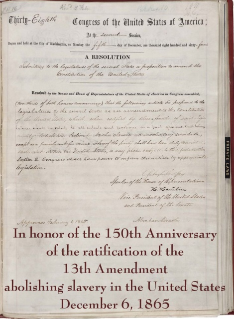 13th amendment with text copy