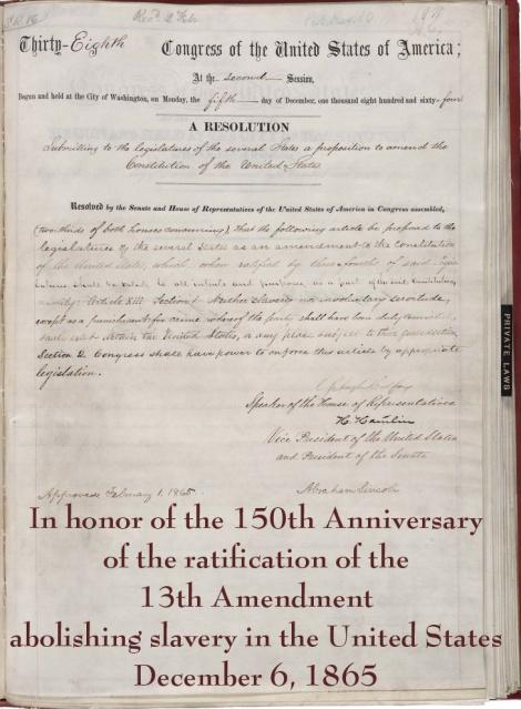 13th amendment with text copy