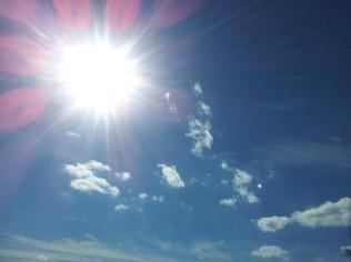 summer sun blue sky